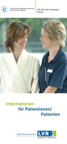 Flyerdeckblatt: Patienteninformation